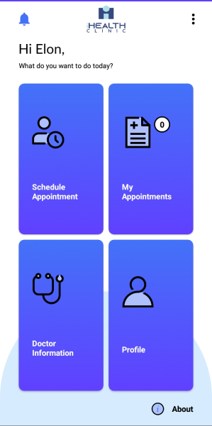 iHealth Teleclinic Menu Example